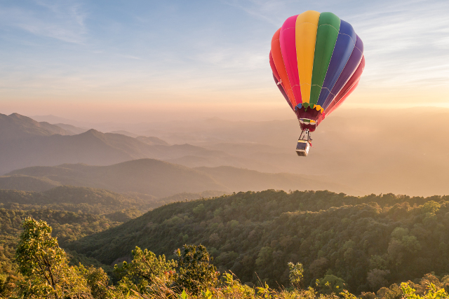 Hot air balloon flights